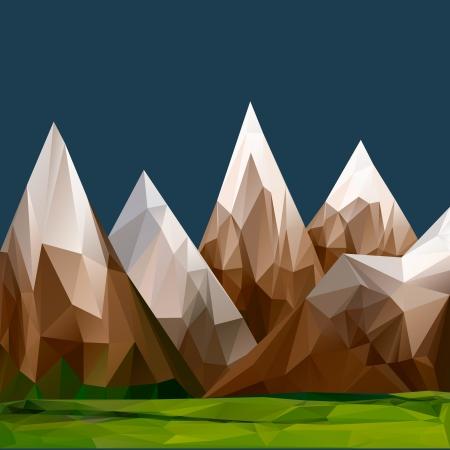 Le relief montagneux, fond polygonal
