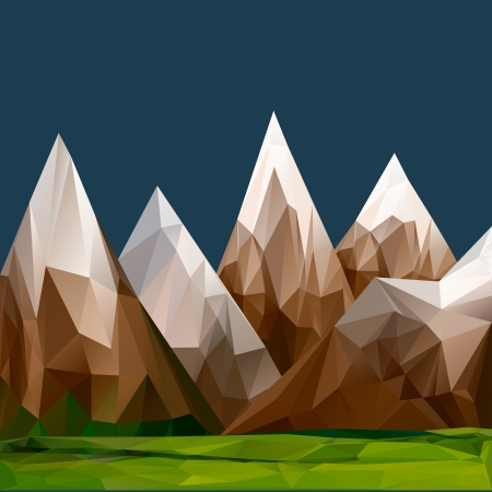 barren: Mountainous terrain, polygonal background