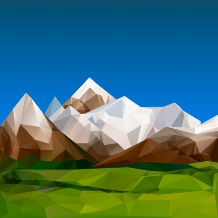 Mountainous terrain, polygonal background, vector Eps10 illustration. Stock Vector - 20002305
