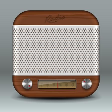 Retro radio app icon 版權商用圖片 - 20002747