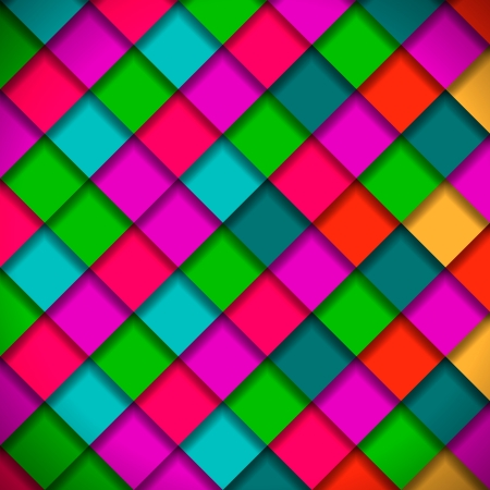 Bright colors mosaic pattern Stock Vector - 20003637