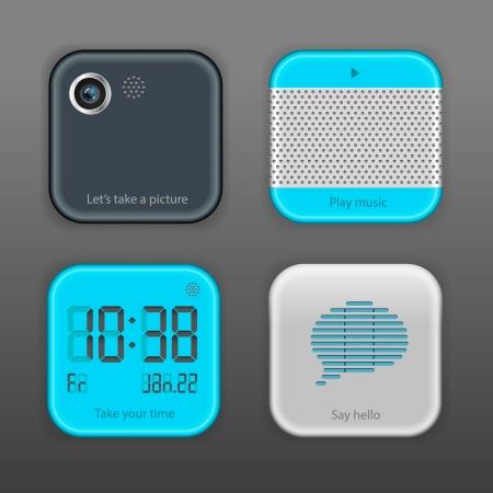 Vector App Icon Set Vector
