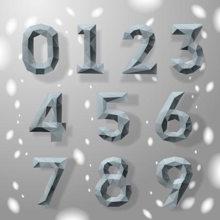 Trendy grau fraktale geometrische Zahlen