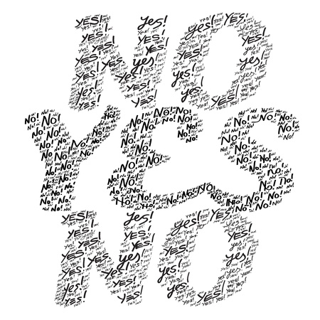 undetermined: Yes or No   Vector illustration  Illustration