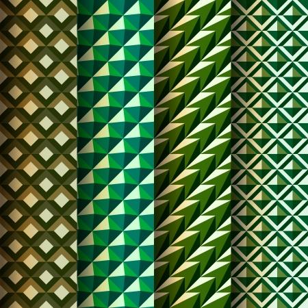 illusory: Establecer patrones de sin problemas geom�tricos estilo retro Vectores