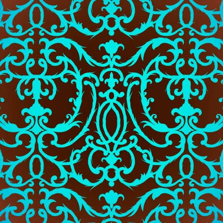 thistle: Damask thistle floral background pattern