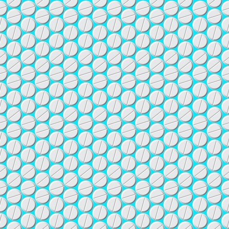 Medical seamless background with pills Vector