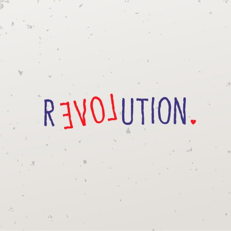 Letters forming word game with revolution Vector