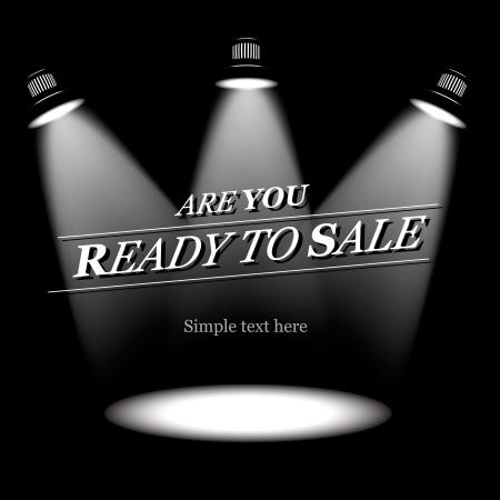 Prêt à la vente, vecteur de fond Vecteurs