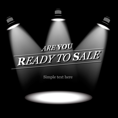 Ready to sale, vector background Vector