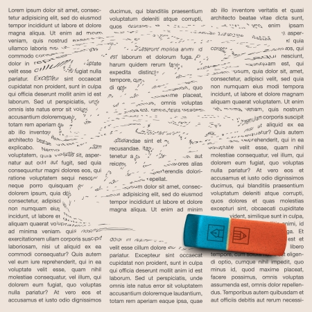 Newspaper page with eraser of erasing news Stock Photo - 20869274