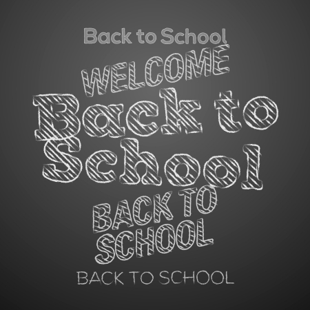 Back to school design elements photo