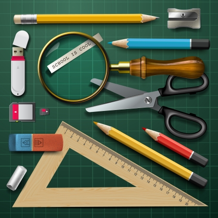 Colorful school supplies Stock Photo - 20869279