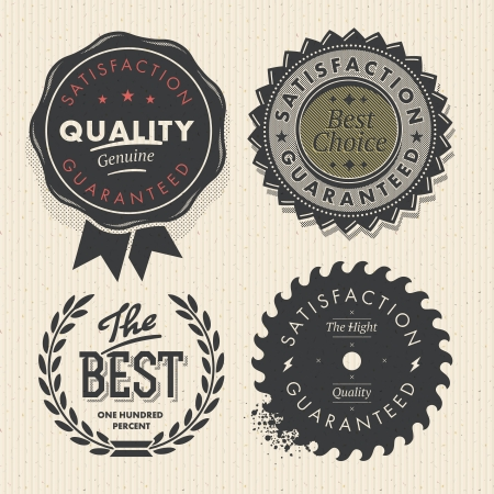 quality guarantee: Set premium quality and guarantee labels, vector Eps10 image.