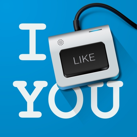 I like you with Keyboard key photo