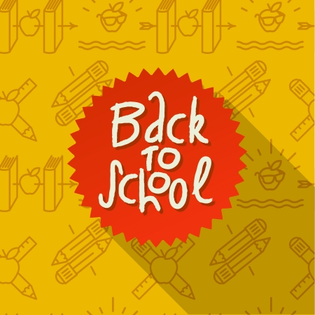 back icon: Back to school background