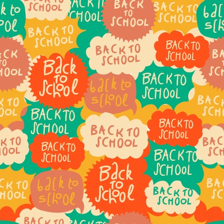Seamless school pattern with speech bubbles Stock Photo - 21299414