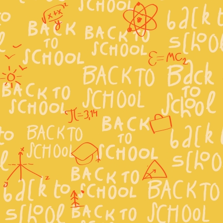 Seamless yellow school pattern photo