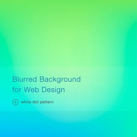Arrière-plan flou vert pour la conception web, illustration vectorielle