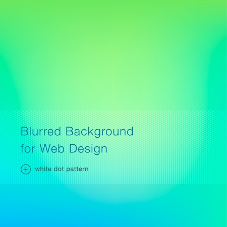 Green blurred background for web design, vector illustration Vector