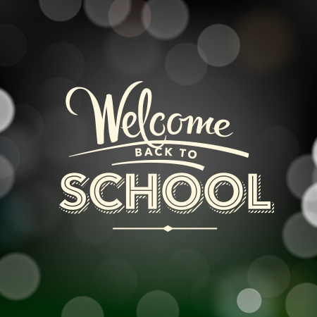 Back to school poster with text, vector Eps10 illustration. Vector