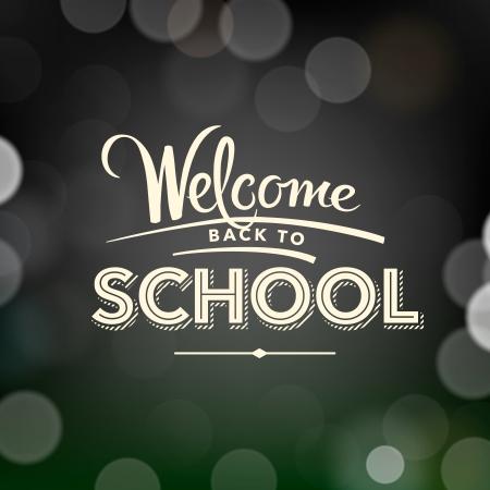 espalda: Volver a la escuela cartel con el texto, vector Eps10 ilustraci�n. Vectores
