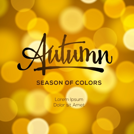 Autumn defocused gold background, vector Eps10 illustration. Vector