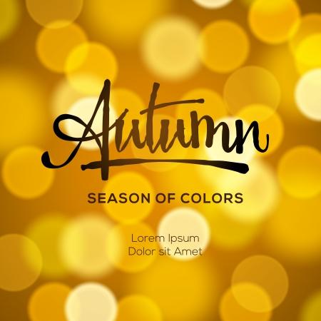 Autumn defocused gold background, vector Eps10 illustration.