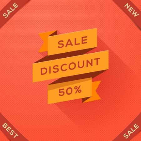 paper folding: Sale, discount paper folding design, vector Eps10 illustration. Illustration