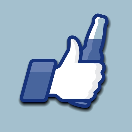 Thumbs Up Symbol Symbol mit Bier, Vektor-Illustration eps10.