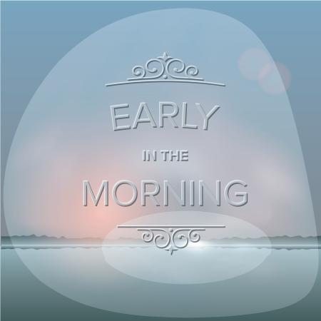 misty: Misty morning background, vector Eps10 illustration.