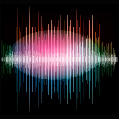 Sharp colorful waveform background, vector Eps10 illustration. Stock Vector - 22298987