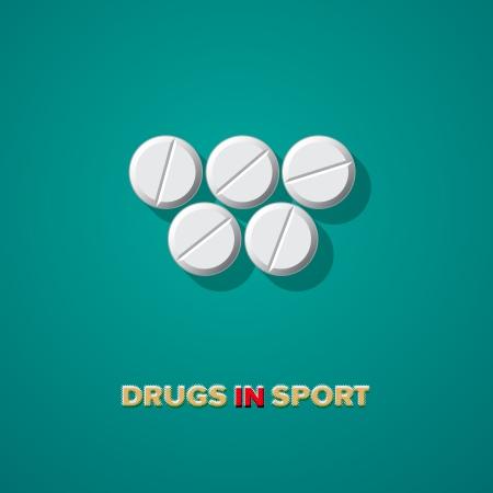 Drugs in sport, vector Eps10 illustration. Illustration