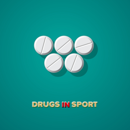 Drugs in sport, vector Eps10 illustration. Stock Vector - 22298991