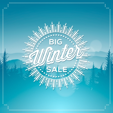 Big winter sale poster