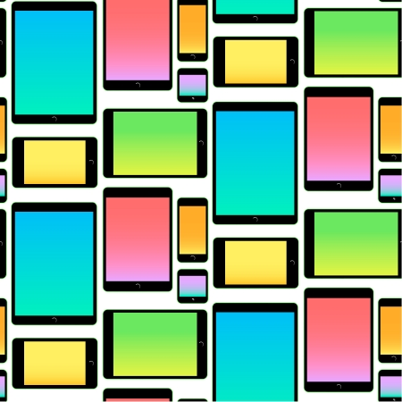 Pattern made with Mobile Devices  Vector