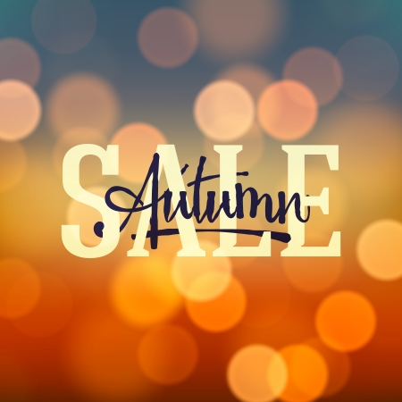 autumn background: Autumn Sale poster bokeh background