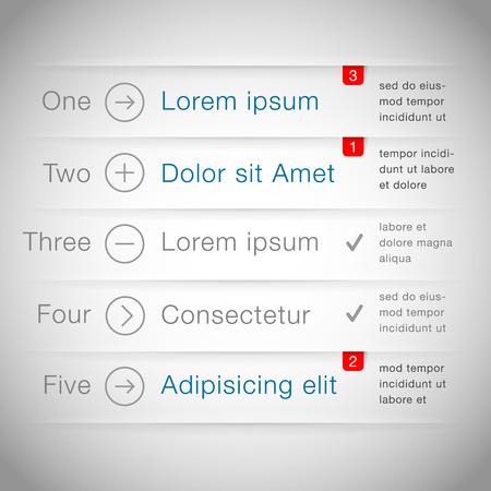 web design template: Infographic web design template  Illustration