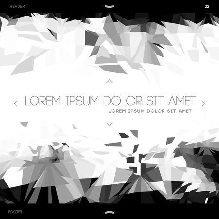 Polygonal design, web template  Vector
