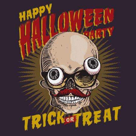 Halloween Party Design-Vorlage, Vektor eps10 Bild.