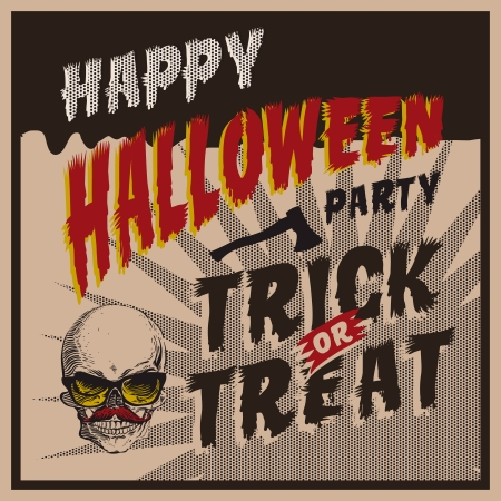 Halloween Party design template, vector Eps10 image. Vector