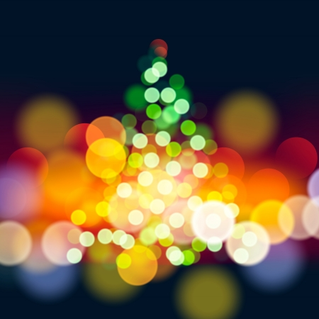 Christmas tree lights  Vector