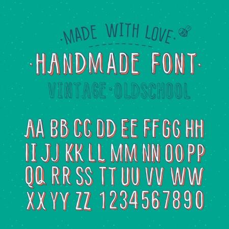 handmade: Handmade vintage alphabet