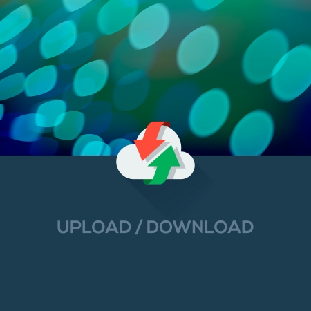 websit: Download and Upload flat icon