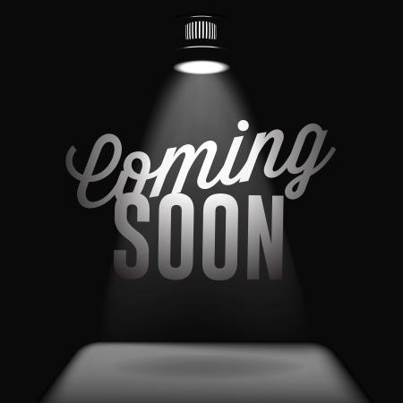 soon: Binnenkort, verkoop poster Stock Illustratie