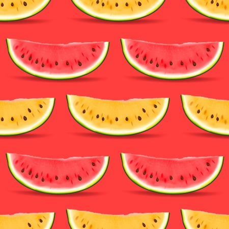 Watermelon seamless pattern  Vector