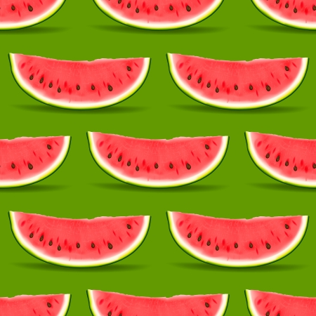 wallpaper abstract: Watermelon seamless pattern