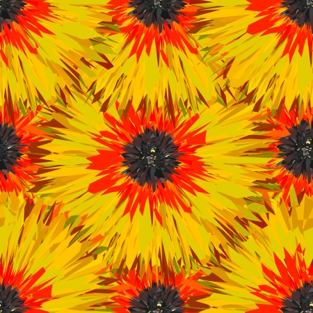 painterly: Seamless tropical floral pattern