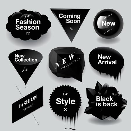 ?Fashion sale speech bubbles set, vector illustration.