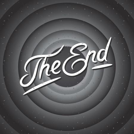 Movie ending screen background, vector Eps10 illustration. Vector
